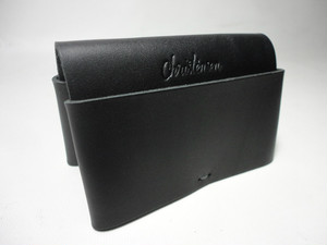 Christensen Business Card Sleeve Wallet (BLACK Leather)