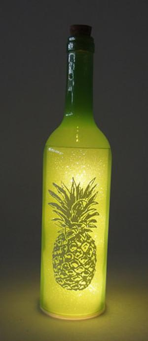 ボトルドライト パイナップル  グリーン