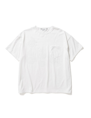 """CHICHIN-PUI-PUI"" POCKET BIG TEE -WHITE- / Sasquatchfabrix."