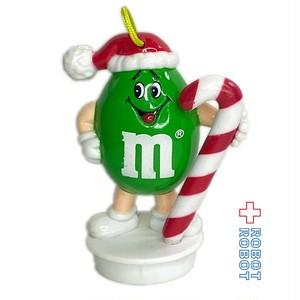M&M's 1992 サンタハットピーナッツグリーン WITH CANDY CANE クリスマスオーナメント