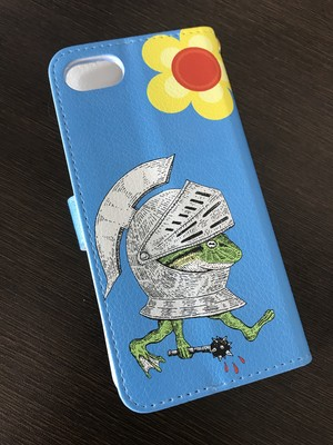 BRUTAL FROG ARMY book type smartphone case BLUE