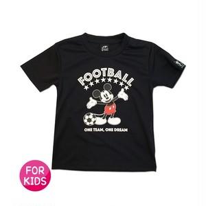 Mickey Mouse コラボ プラシャツ gramo「ONE TEAM」(ブラック/P-048) ※120・140cmサイズ