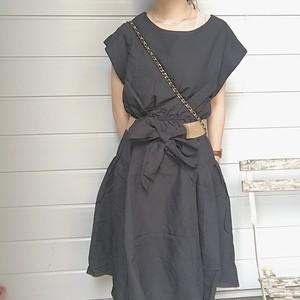waist ribbon one piece [J-4]