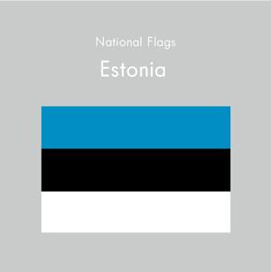 国旗ステッカー エストニア