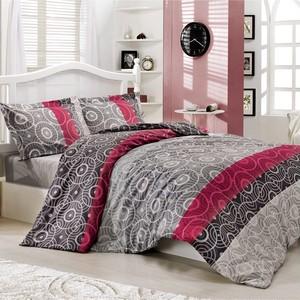 トルコ製 シングル ベッドカバー 3点セット HARE グレー