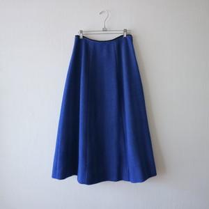 シャギーボーンスカート・ブルー