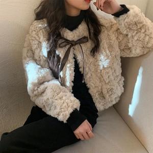 〈カフェシリーズ〉もこもこファーコート【mocomoco fur coat】