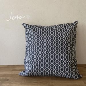 cushion cover[手織りクッションカバー] ネイビー
