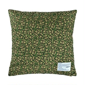 """FABRICK / """"HAVE A GOOD TIME"""" SQUARE CUSHION COVER+PILLOW"""