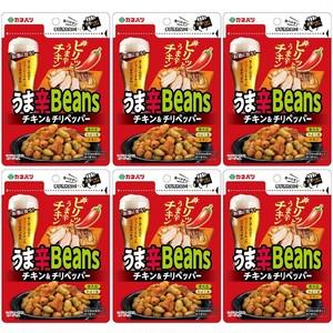 カネハツ うま辛Beans チキン&チリペッパー6個セット〔60g×6〕 ◆ゆうパケット送料無料◆