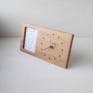 木の時計&フォトフレーム No134 | ナラ