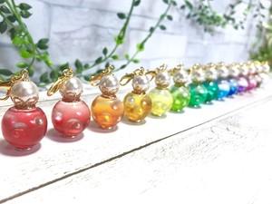 ミニカラーボトル風チャーム/レジン カラーセラピー