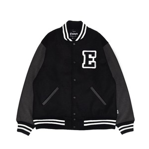 COLLEGE JACKET / BLACKxGRAY