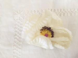 シルクの大きな花