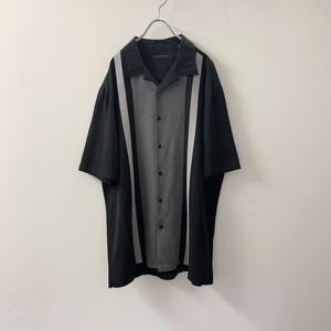 VIA EUROPA オープンカラーシャツ ブラック レーヨン size L メンズ 古着