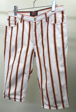 1990s W&LT STRIPED CROPPED PANTS