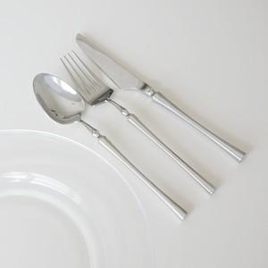 silver cutlery 3P set / シルバー ディナー カトラリー セット スプーン フォーク ナイフ 韓国 北欧 雑貨
