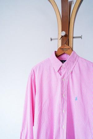 "【1990s】""Blake, Polo by Ralph Lauren"" Button-down Plaid Shirts / v647y"