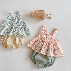 【夏物SALE】20%off【即納】ベビーセットアップ 花柄 夏 韓国子供服