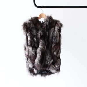 【M.CODE】 FOX FUR HOODED VEST