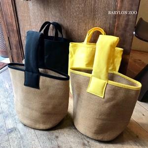 《イエローのみ》Porter des boutonsのインナーバッグ付き ペーパーバケツ型バッグ