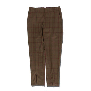 SLIT CHECK SLACKS / BROWN