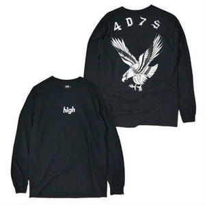 "HAIGHT(ヘイト)""EAGLE L/S TEE ft 4D7S ""[BLACK]"