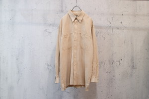 beige colour fake suede shirt‬
