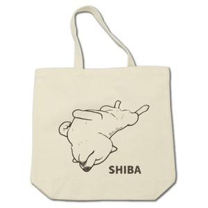 SHIBA(へそ天)トートバッグ
