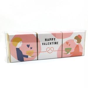 男の子と女の子のバレンタイン箱茶3点セット|箱茶