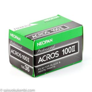 黒白 135mm ISO100 1本 フジフイルム ネオパン100 アクロスII FUJIFILM NEOPAN ACROSII  モノクロネガフィルム (カテゴリ:現像 写真 プリント 焼付)