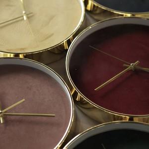 velvet gold flame wall clock 6colors / ベルベット ゴールド ウォールクロック 壁掛け時計 韓国 北欧