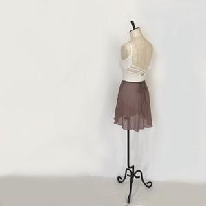 "❖""Fiorina"" Ballet Wrap Skirt -  Azuki [Sheer]( アズキ [シアー])"