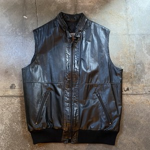 70s Sears Leather Vest