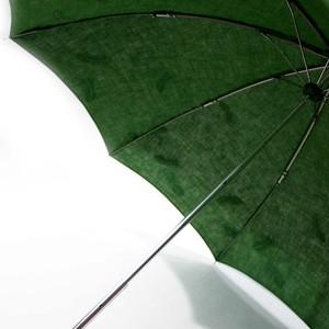 hane ふわふわ刺繍日傘 グリーン×緑 47㎝折りたたみ