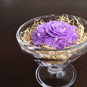 バラとパールのソープカービング(グレープの香り)