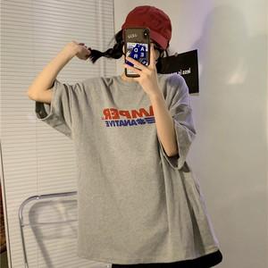 【トップス】ファッション半袖ラウンドネックプルオーバーTシャツ44461482