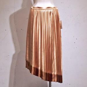 TAGE / アシンメトリープリーツスカート / Gold × Dark Gold