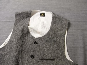 workers heavylinen vest / lightgrey