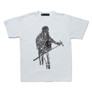 A GOOD BAD INFLUENCE -  AXL CRACKED POCKET TEE ( WASHED WHITE)