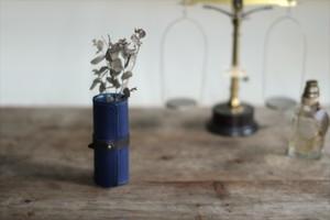 藍染革[migaki] ペンスタンド/ミニフラワーベース