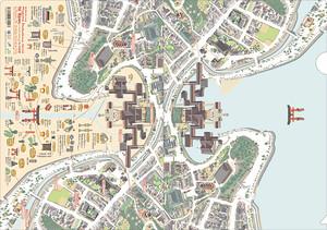 A4クリアファイル 宮島「嚴島神社いろいろmap」