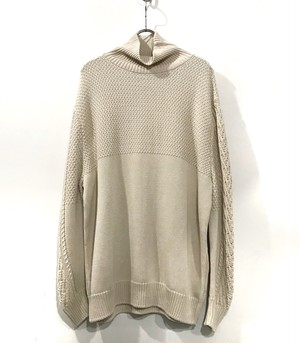 YANTOR cotton turtle knit   off White