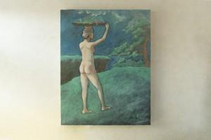 【油彩画】「望月の宵の宴 No.2」F6size 油絵、絵画、美術