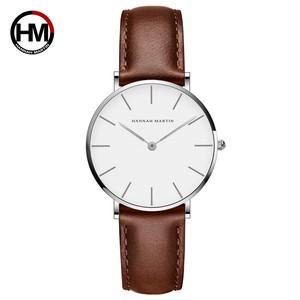 ジャパンクォーツシンプルな女性のファッション時計ホワイトレザーストラップレディース腕時計ブランド防水腕時計36mmCB36-YK