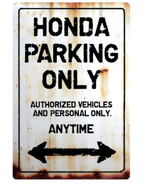 HONDA Parking Onlyサインボード