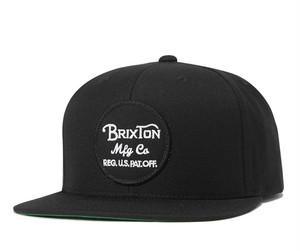 BRIXTON (ブリクストン) WHEELER スナップバック キャップ Black (ブラック)