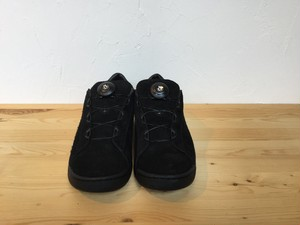 "ptarmigan""SUEDE COURT SHOES BLACK/BLACK"