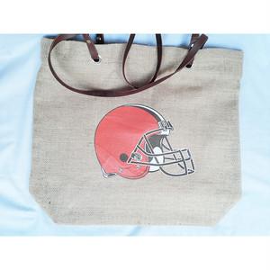NFL クリーブランド ブラウンズ Cleveland Browns バーラップ 黄麻布 トートバッグ バッグ 正規品 1774