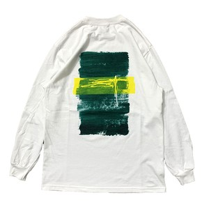 "STACKS / SORUTO ""PAINTING"" L/S TEE -WHITE-"